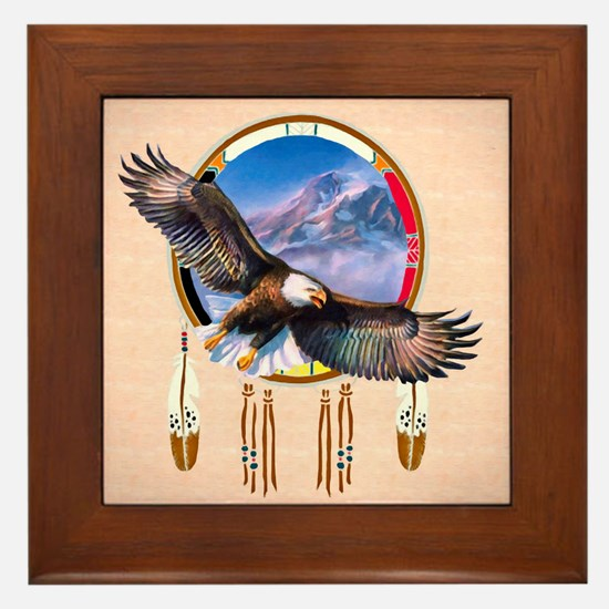 Flying Eagle Shield Framed Tile
