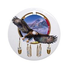 Flying Eagle Shield Round Ornament