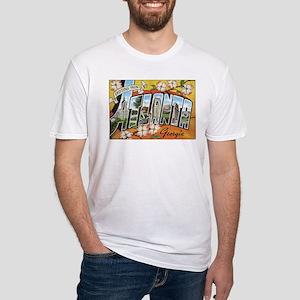 Atlanta Georgia Postcard Fitted T-Shirt