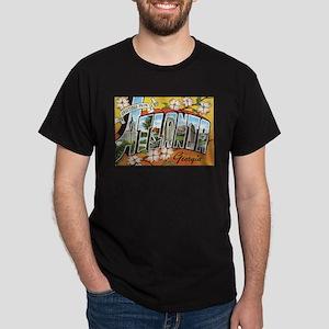 Atlanta Georgia Postcard Dark T-Shirt