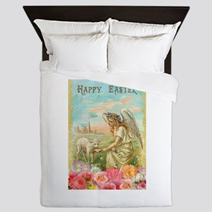 happy easter angel Queen Duvet