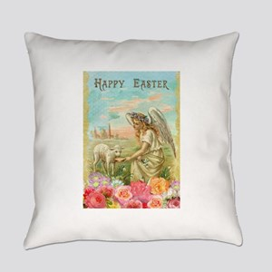 happy easter angel Everyday Pillow