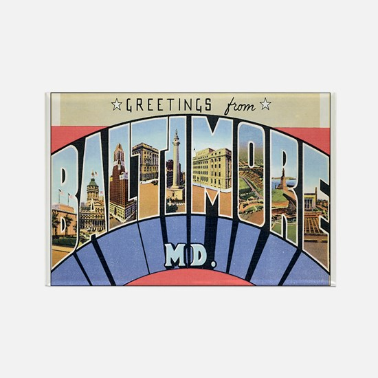 Baltimore Maryland Postcard Rectangle Magnet