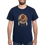 Fishing Bear Shield Dark T-Shirt