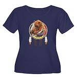 Fishing Women's Plus Size Scoop Neck Dark T-Shirt