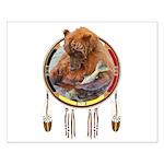 Fishing Bear Shield Small Poster
