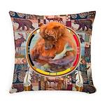 Fishing Bear Shield Everyday Pillow