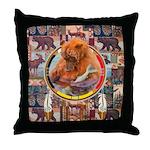 Fishing Bear Shield Throw Pillow