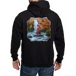Fishing Bear Shield Hoodie (dark)