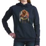 Fishing Bear Shield Women's Hooded Sweatshirt