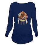 Fishing Bear Shield Long Sleeve Maternity T-Shirt