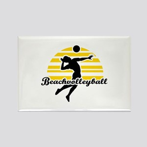 Beachvolleyball Rectangle Magnet