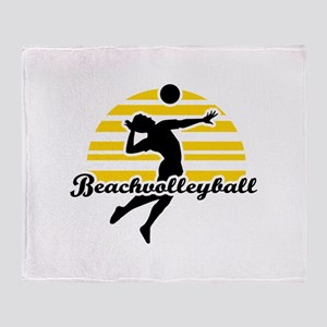 Beachvolleyball Throw Blanket
