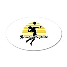 Beachvolleyball Wall Decal