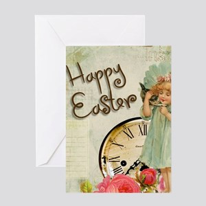 happy easter girl Greeting Cards