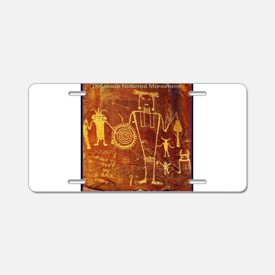 Ancient Drawings Aluminum License Plate