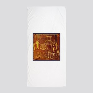 Ancient Drawings Beach Towel