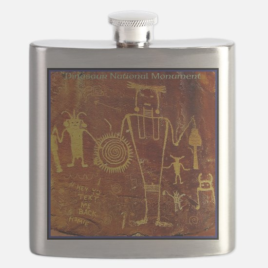 Ancient Drawings Flask