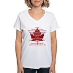 Canada Anthem Souvenir Women's V-Neck T-Shirt