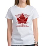 Canada Anthem Souvenir Women's T-Shirt