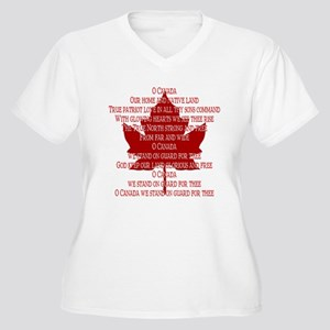 Canada Anthem Souvenir Women's Plus Size V-Neck T-