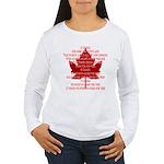 Canada Anthem Souvenir Women's Long Sleeve T-Shirt