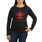 Canada Anthem Souvenir Women's Long Sleeve Dark T-