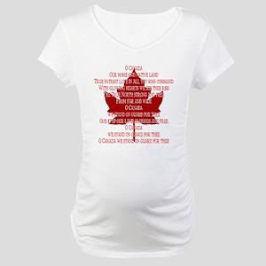 Canada Anthem Souvenir Maternity T-Shirt