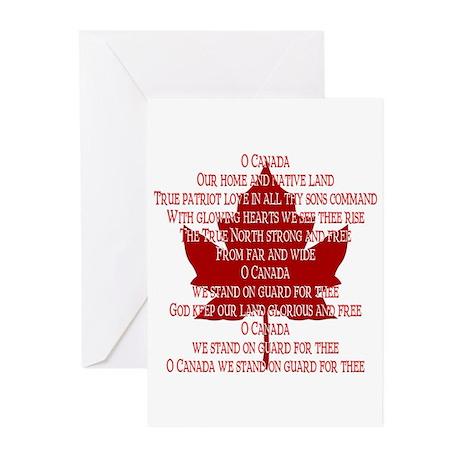 Canada Anthem Souvenir Greeting Cards (Pk of 10)