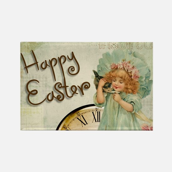 happy easter girl Magnets