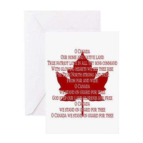 Canada Anthem Souvenir Greeting Card