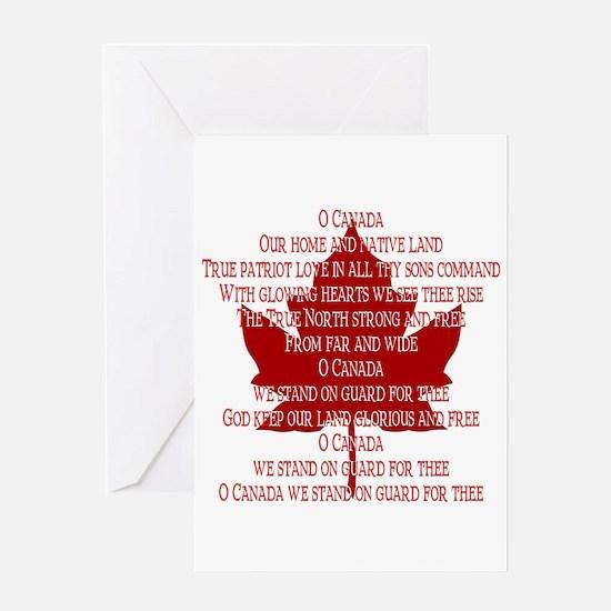 Canada Anthem Souvenir Greeting Card