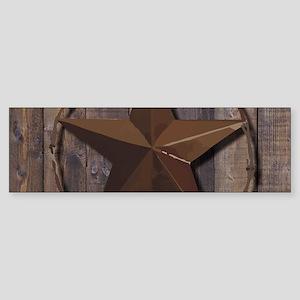 western barnwood texas star Bumper Sticker