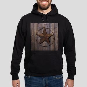 western barnwood texas star Hoodie (dark)