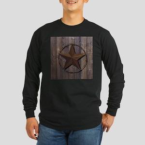 western barnwood texas star Long Sleeve T-Shirt