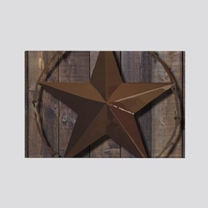 western barnwood texas star Magnets