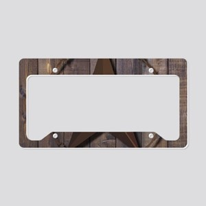 western barnwood texas star License Plate Holder