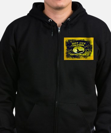 SURF CITY CALIFORNIA Zip Hoodie (dark)
