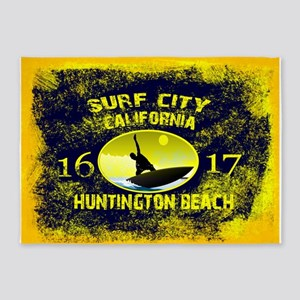 SURF CITY CALIFORNIA 5'x7'Area Rug