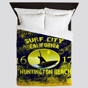 SURF CITY CALIFORNIA Queen Duvet