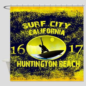 SURF CITY CALIFORNIA Shower Curtain