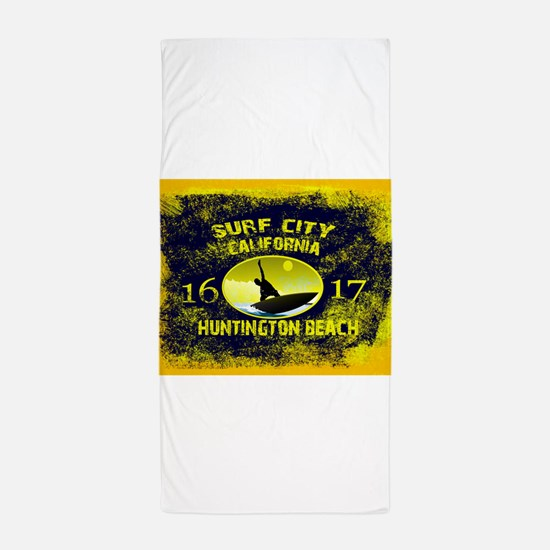 SURF CITY CALIFORNIA Beach Towel