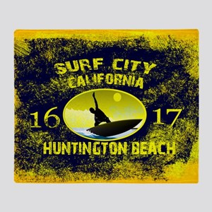 SURF CITY CALIFORNIA Throw Blanket
