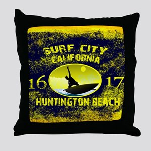 SURF CITY CALIFORNIA Throw Pillow