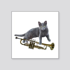 Cat with Trumpet Sticker