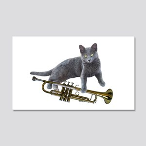 Cat with Trumpet Wall Decal
