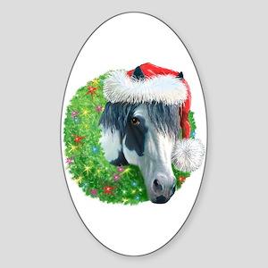 Christmas Ziggy Oval Sticker