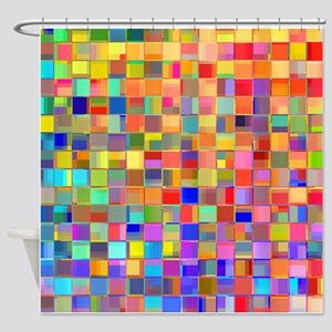 Color Mosaic Shower Curtain