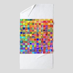 Color Mosaic Beach Towel