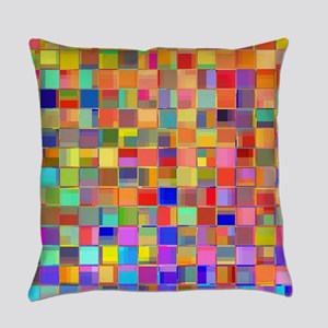 Color Mosaic Everyday Pillow